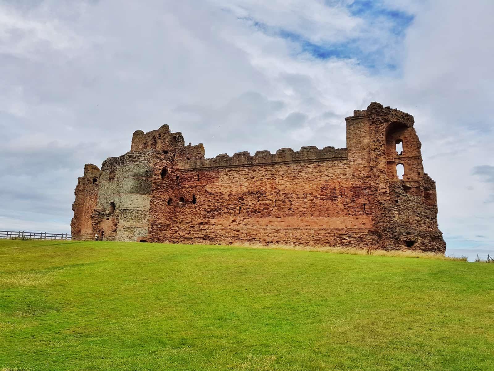 Tantallon Castle and Seacliff Beach East Lothian Scotland - castle walls