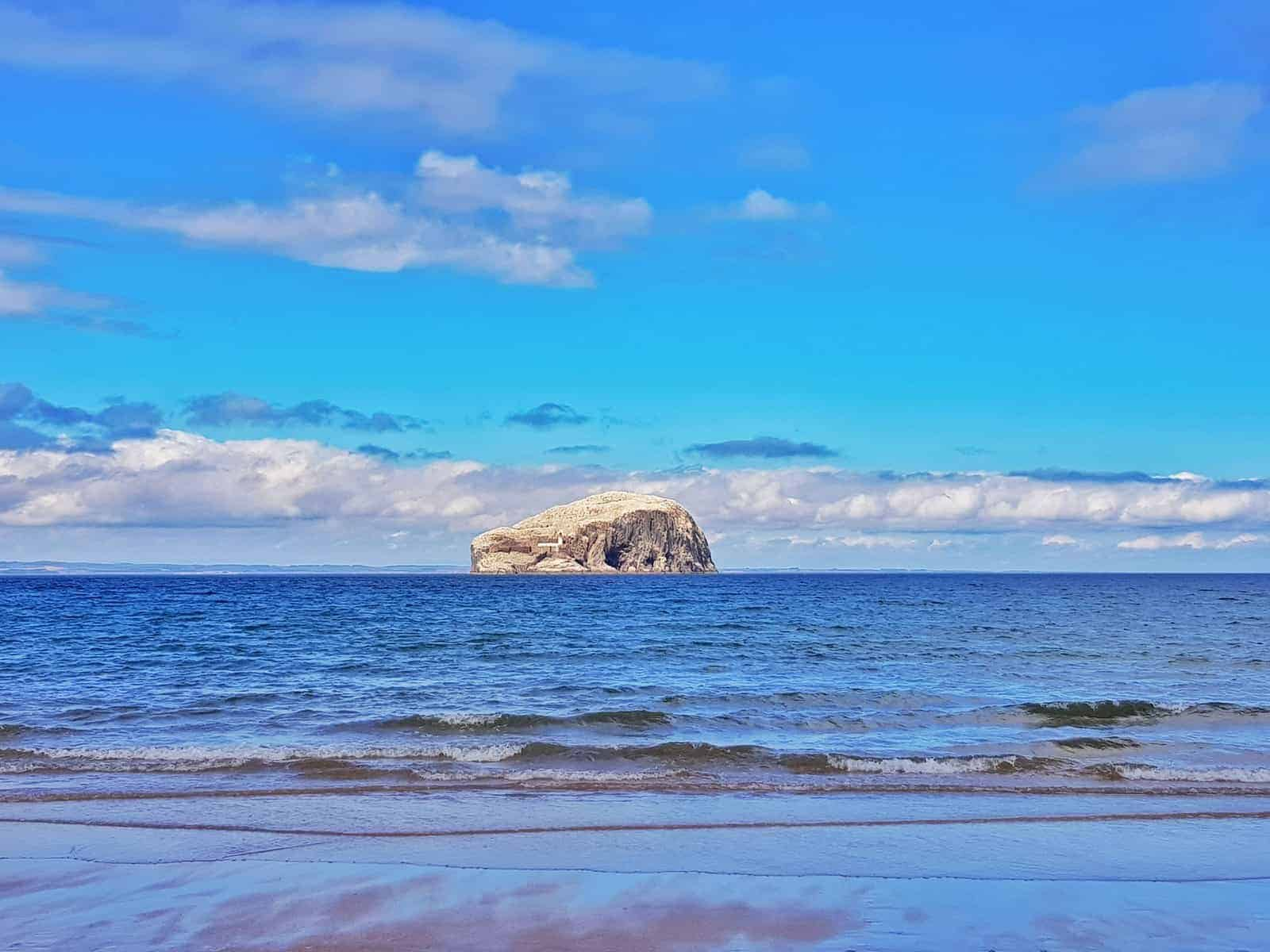 Tantallon Castle and Seacliff Beach East Lothian Scotland - Bass Rock