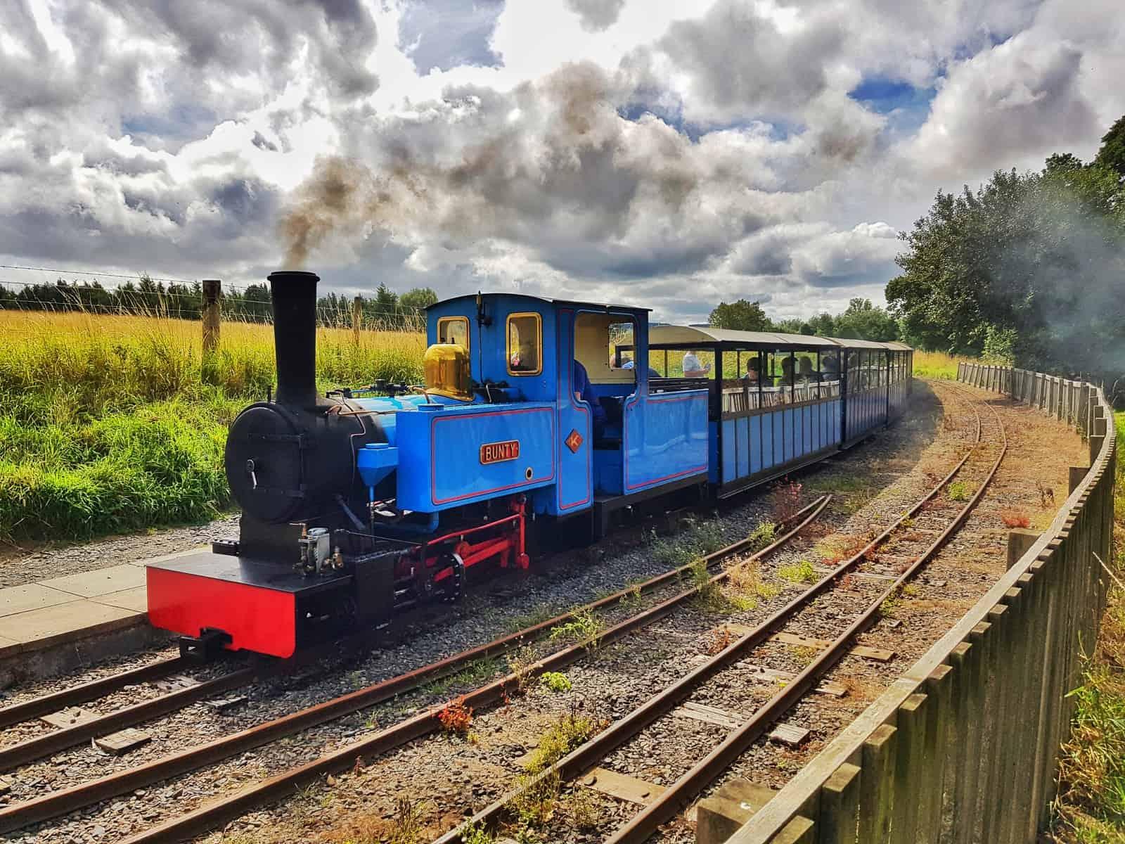 Ford and Etal Heatherslaw steam train
