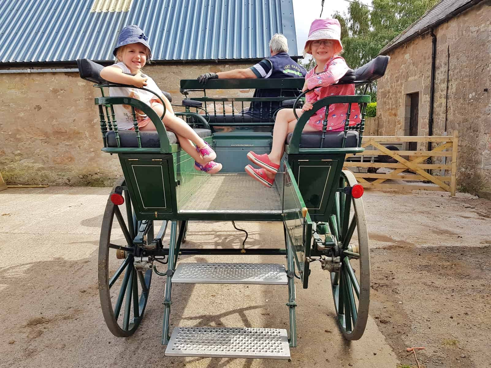 Ford and Etal Hay Farm children on carriage ride