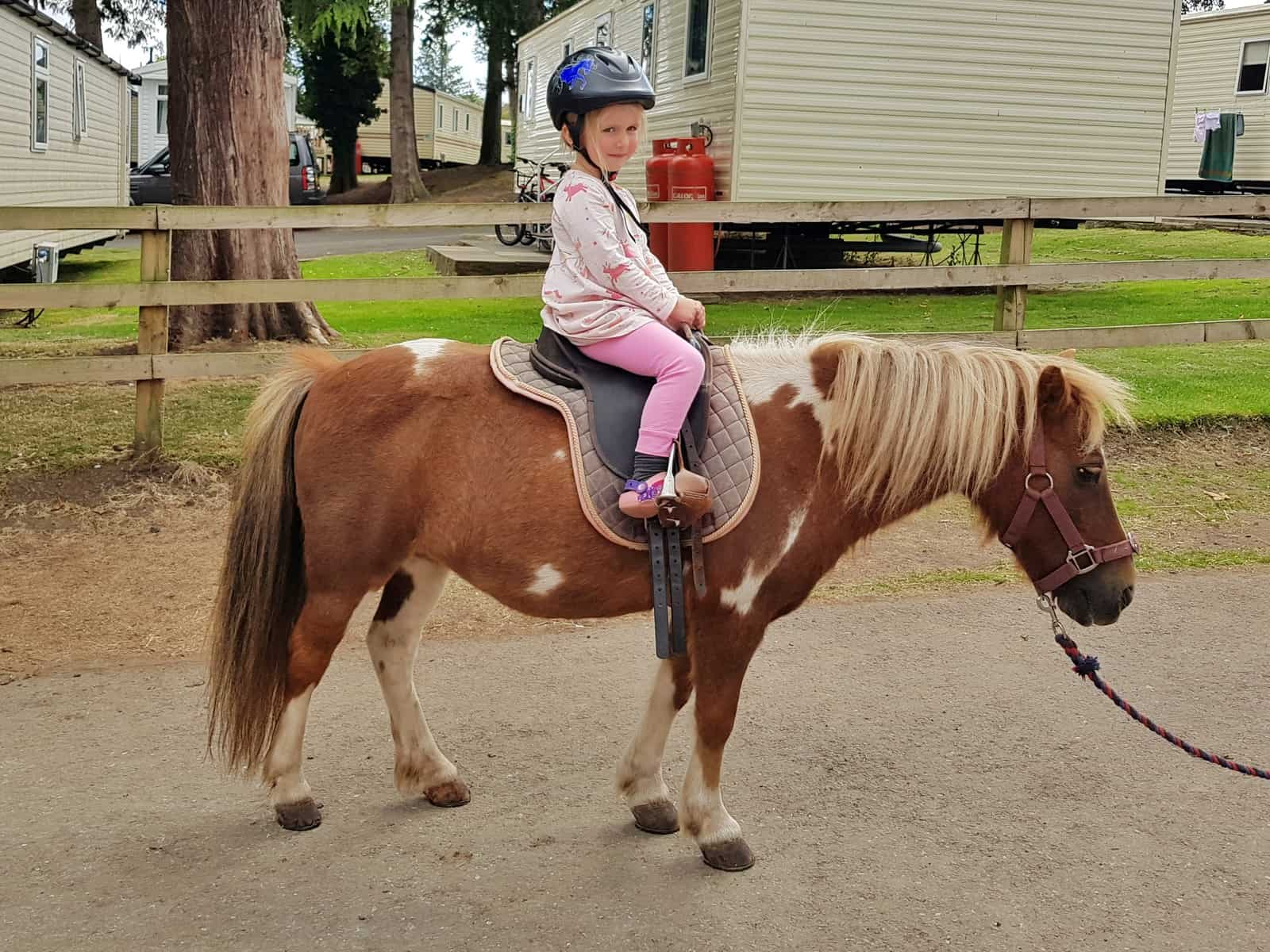 The Spirit Riding Free Stable Sleepover Competition girl on ginger horse