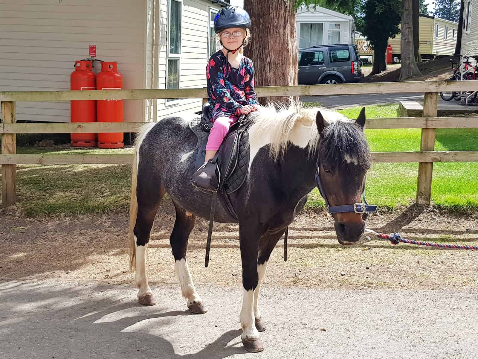 The Spirit Riding Free Stable Sleepover Competition girl on brown horse