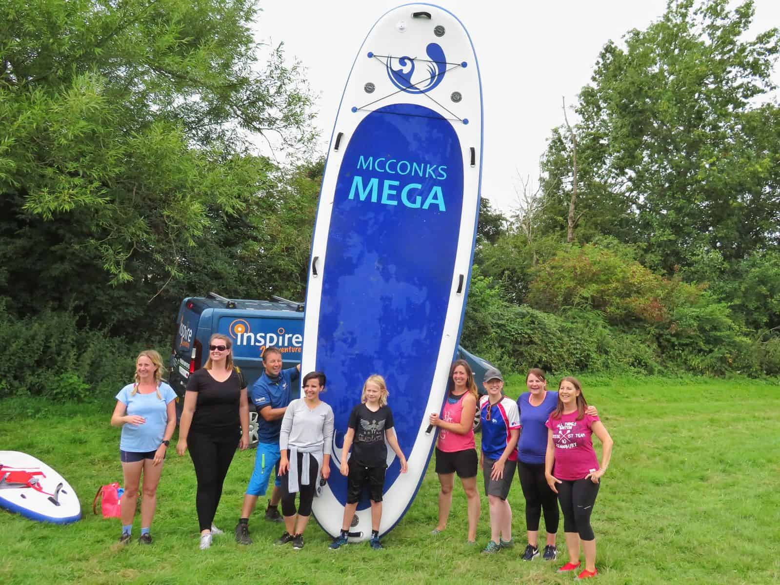 Inspire2Adventure SUP lesson mega SUP