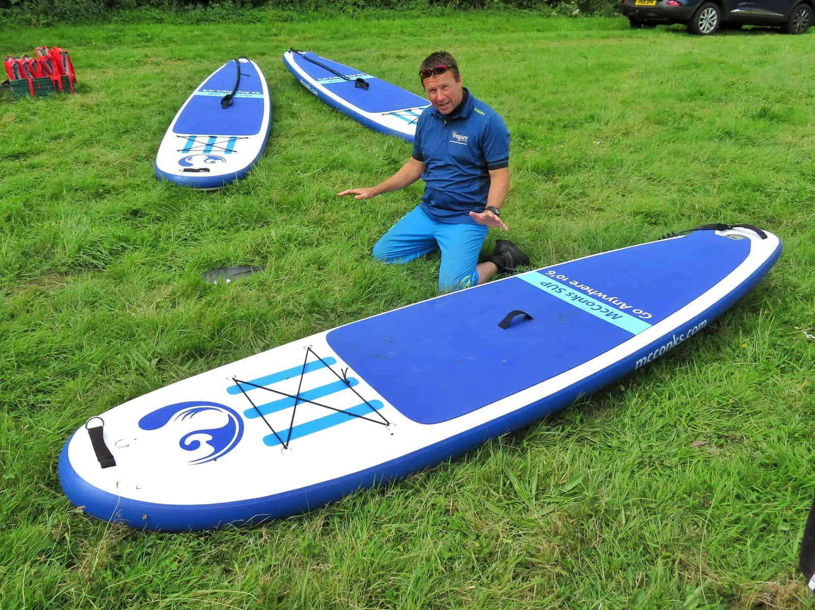 Inspire2Adventure SUP lesson instructor