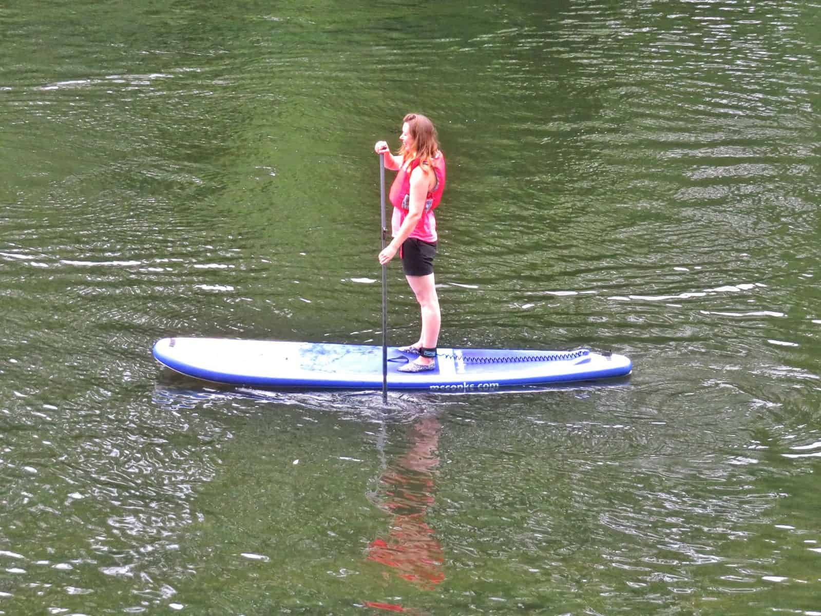 Inspire2Adventure SUP lesson standing on individual SUP