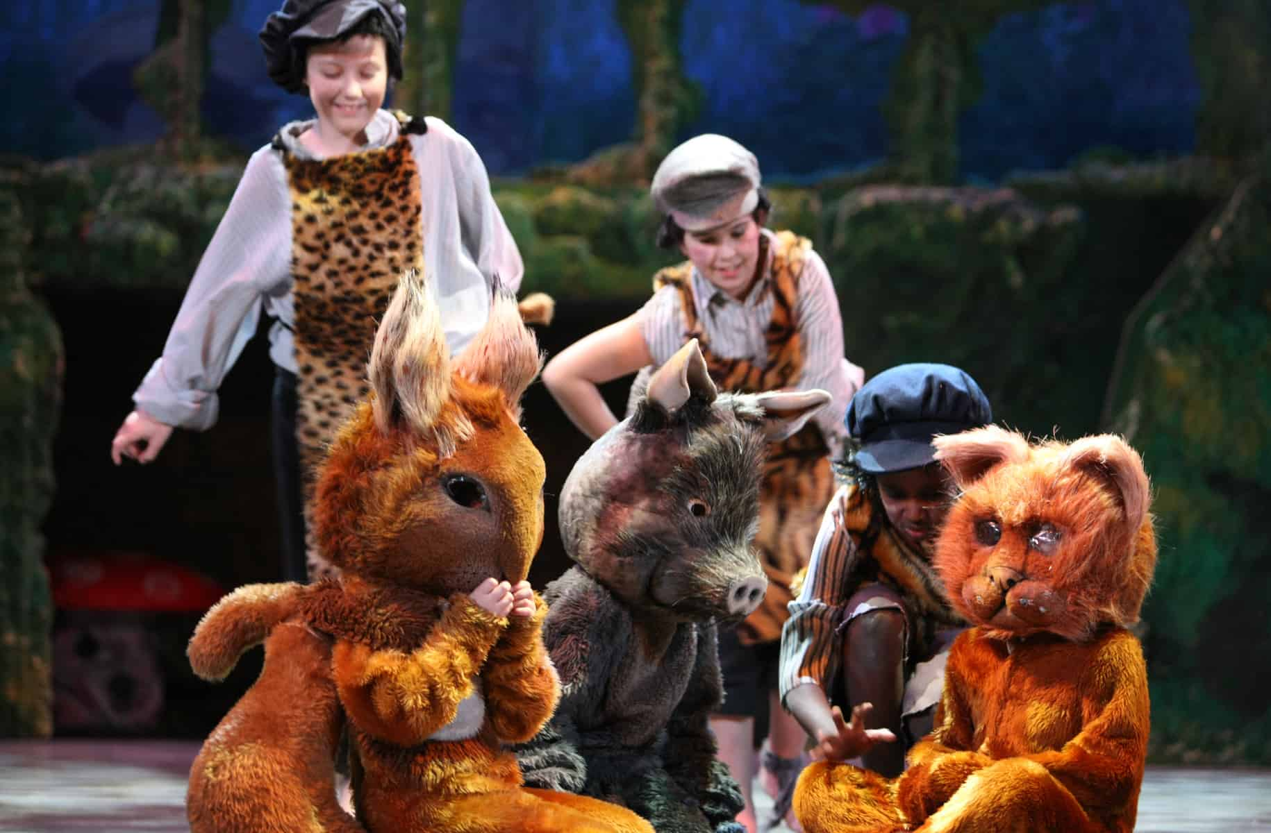 Peter Pan at Malvern Theatres children and animals