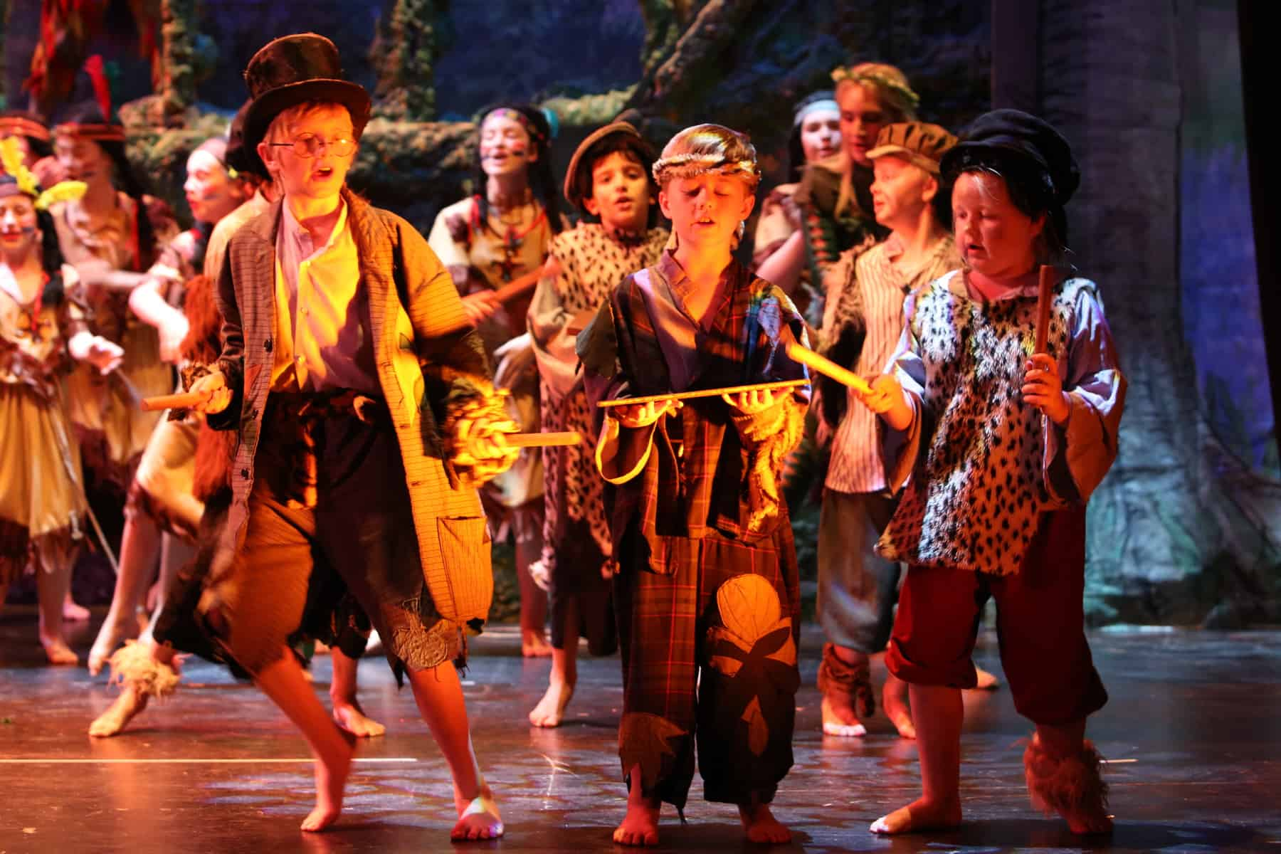 Peter Pan at Malvern Theatres lost boys