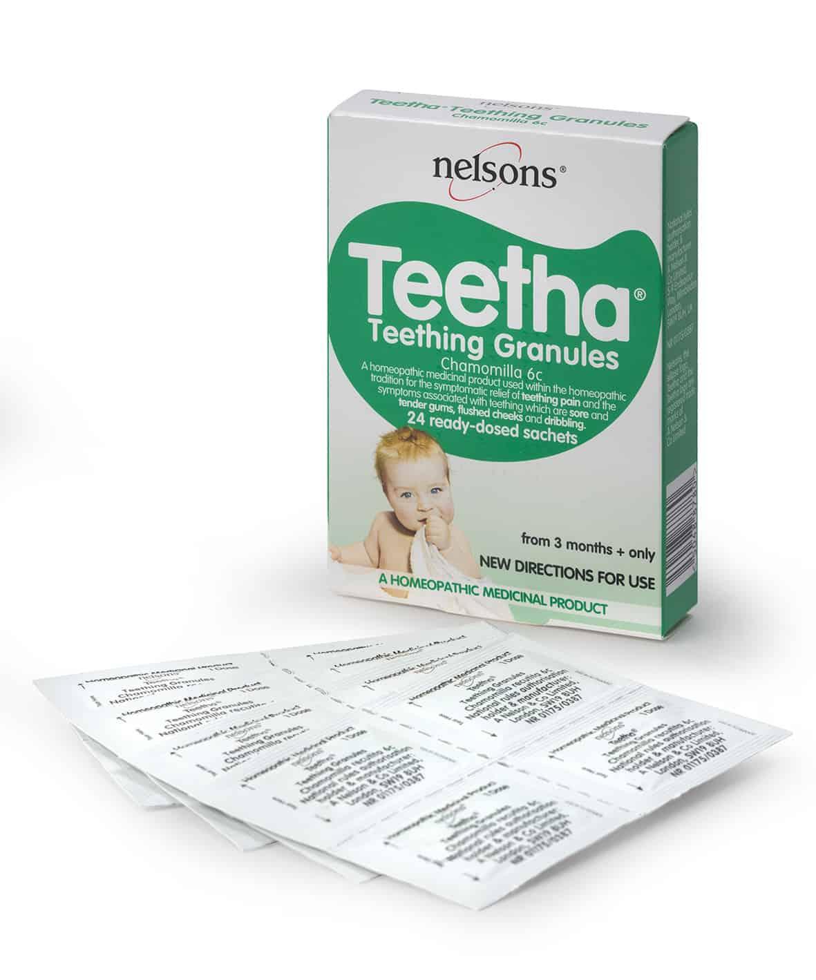 Nelsons Teetha baby teething guide Teetha Teething Granules