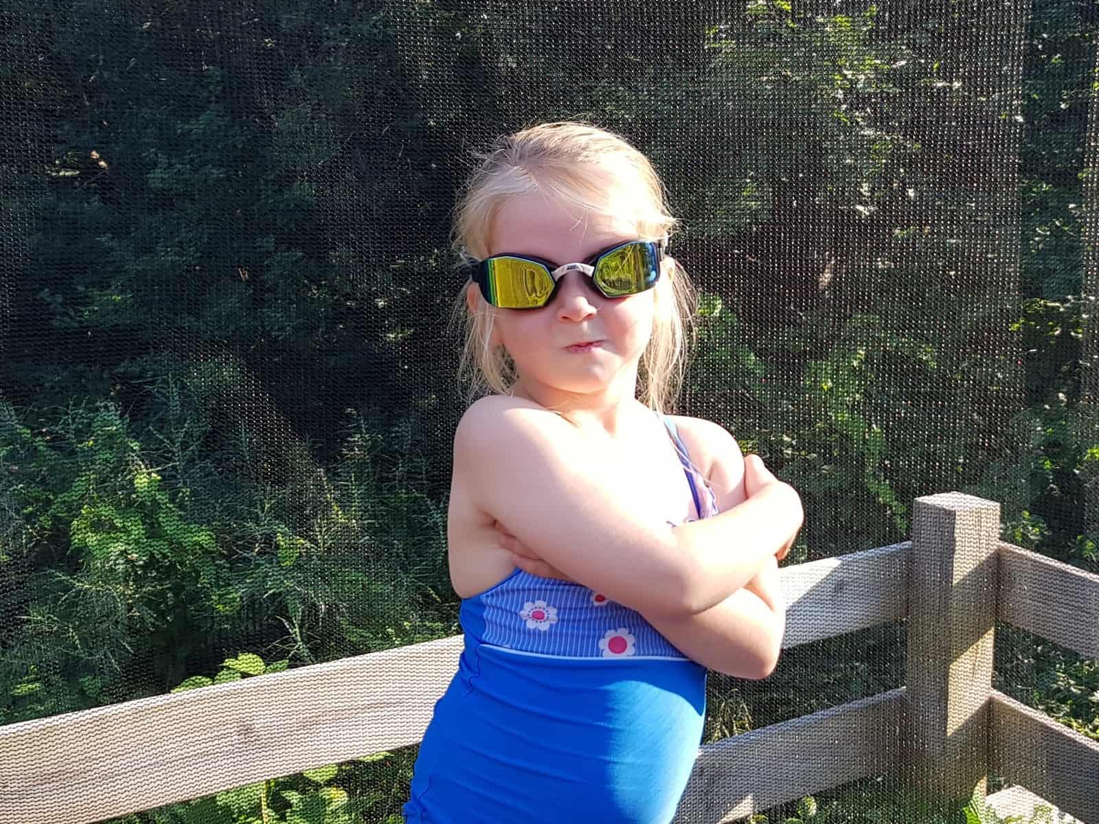 Aspire swimming challenge zoggs swimming costume and goggles