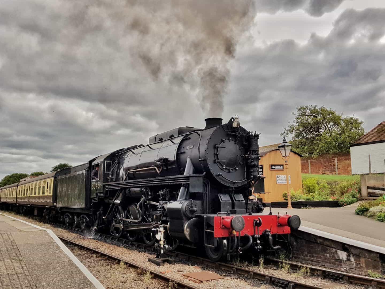 Hoburne Blue Anchor steam train