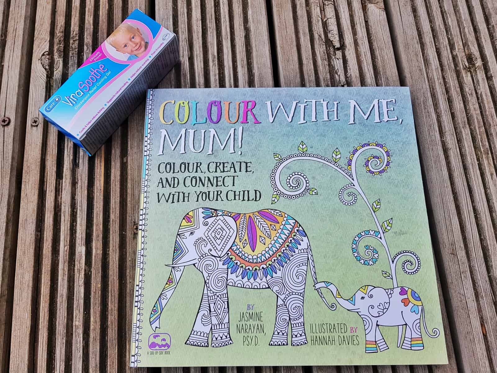 care virasoothe chickenpox gel and colouring book