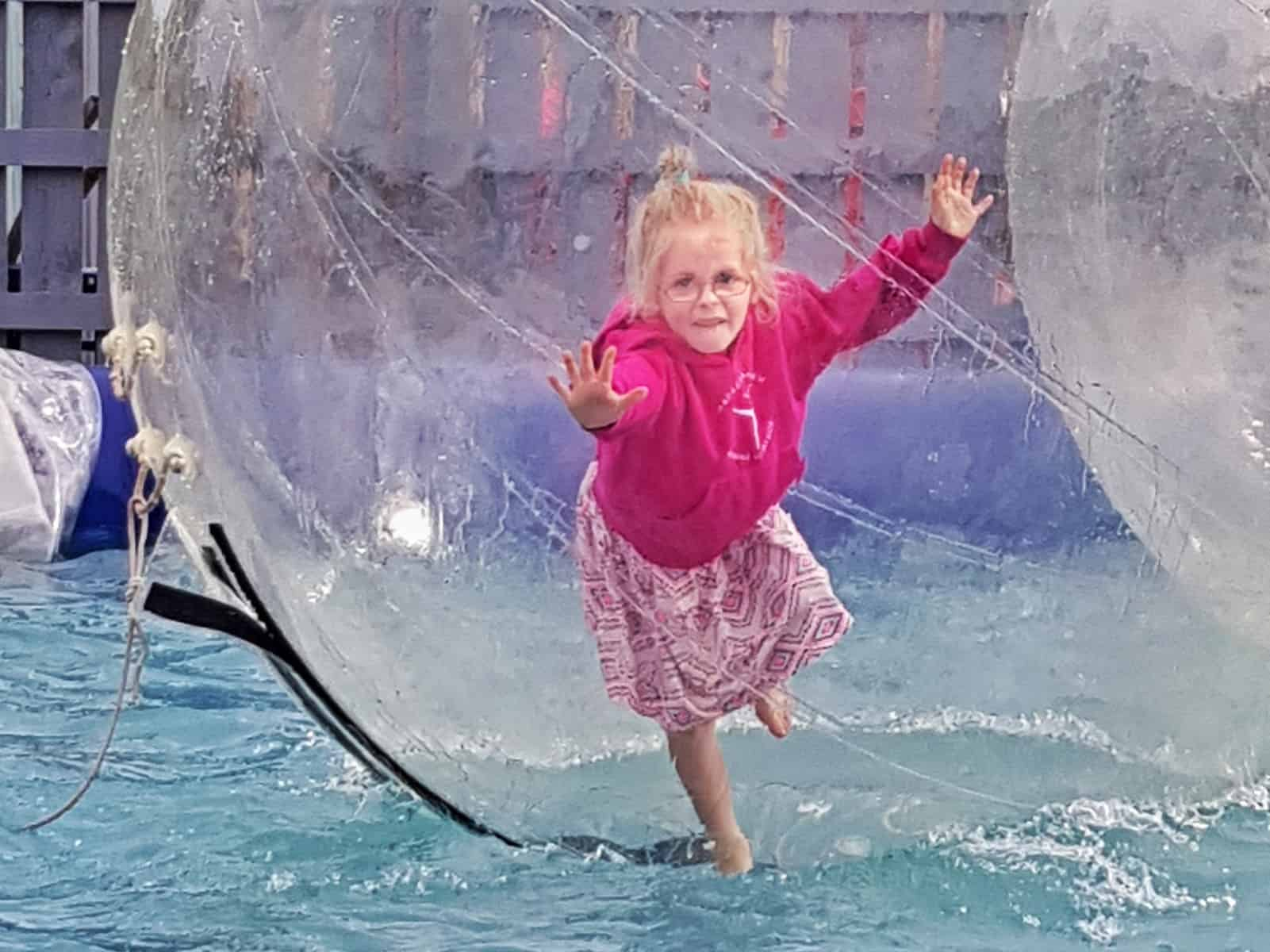 Why Haven holidays are not for us little girl zorbing