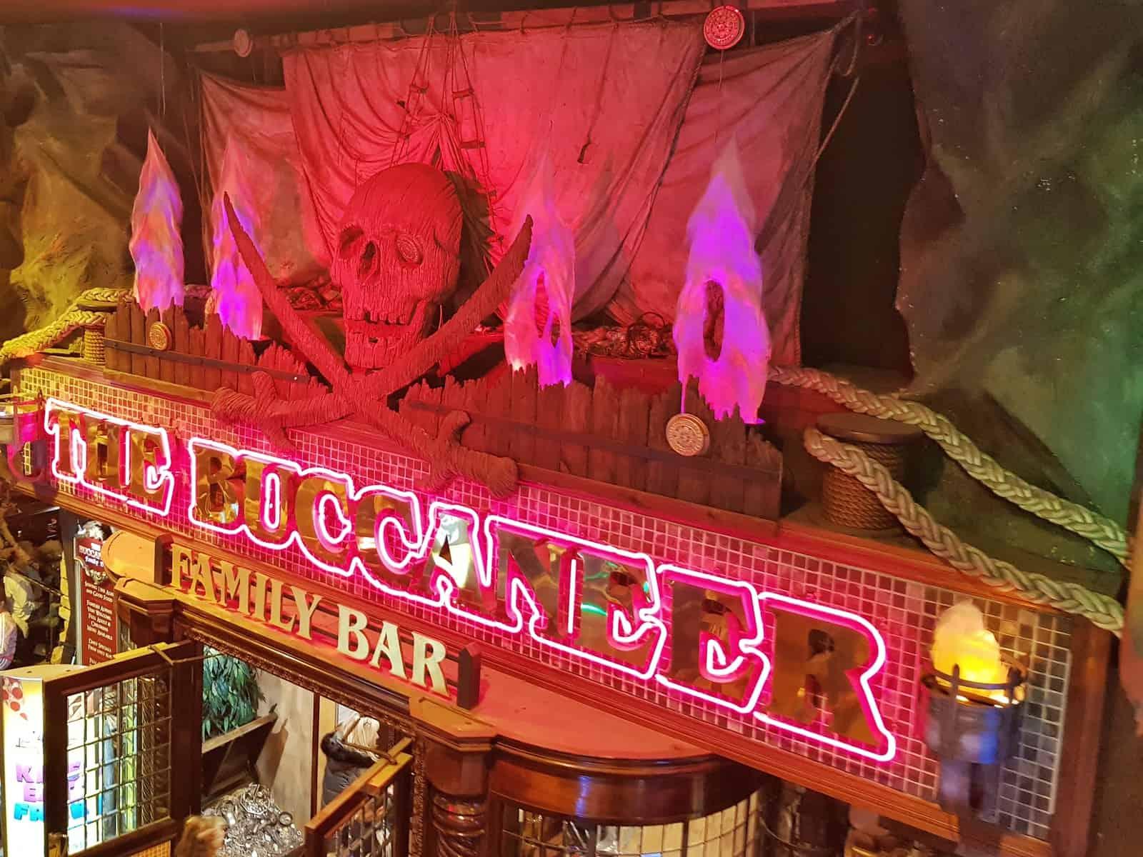 Coral Island Blackpool Buccaneer restaurant sign