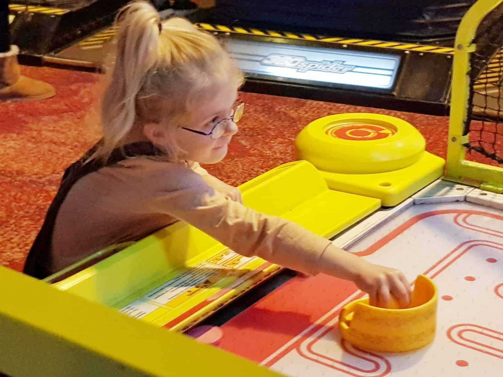 Coral Island Blackpool air hockey