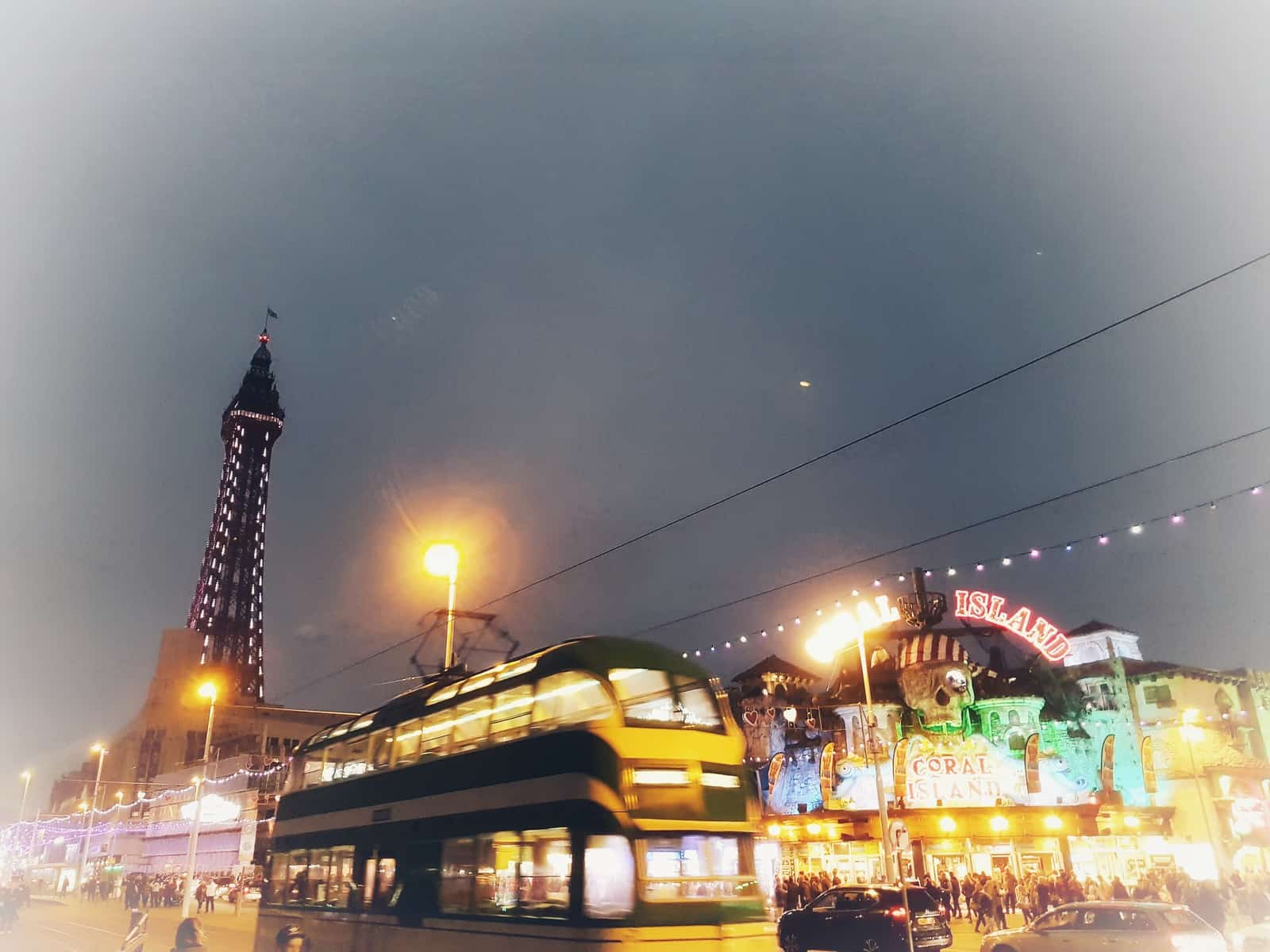 Coral Island Blackpool night view
