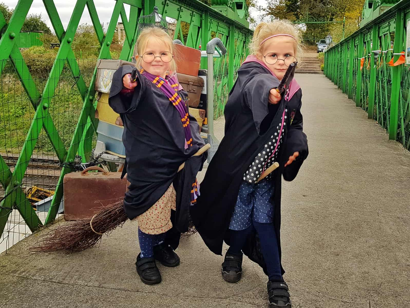 Watercress Line girls dressed as Harry Potter