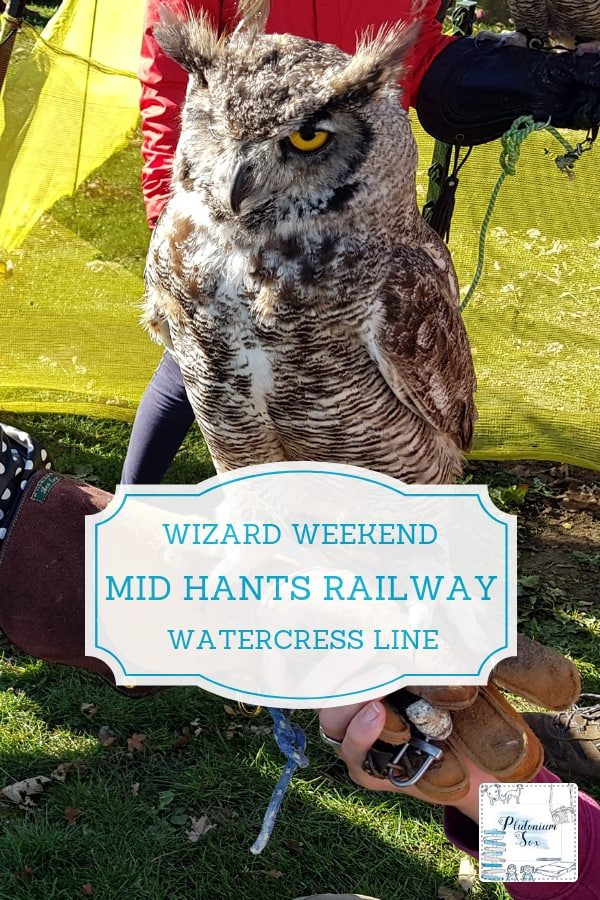 Wizard Weekend | Mid Hants Railway Watercress Line in Hampshire often hosts special events that appeal to people of all ages. With the original footbridge from the Harry Potter films now located there having moved from Kings Cross, it's the perfect place for budding witches and wizards to head for platform 9 3/4 and follow in their hero's footsteps on his journey to Hogwarts. #daysout #familyfun #harrypotter #wizard #magic #hampshire #UKdaysout #UKtravel