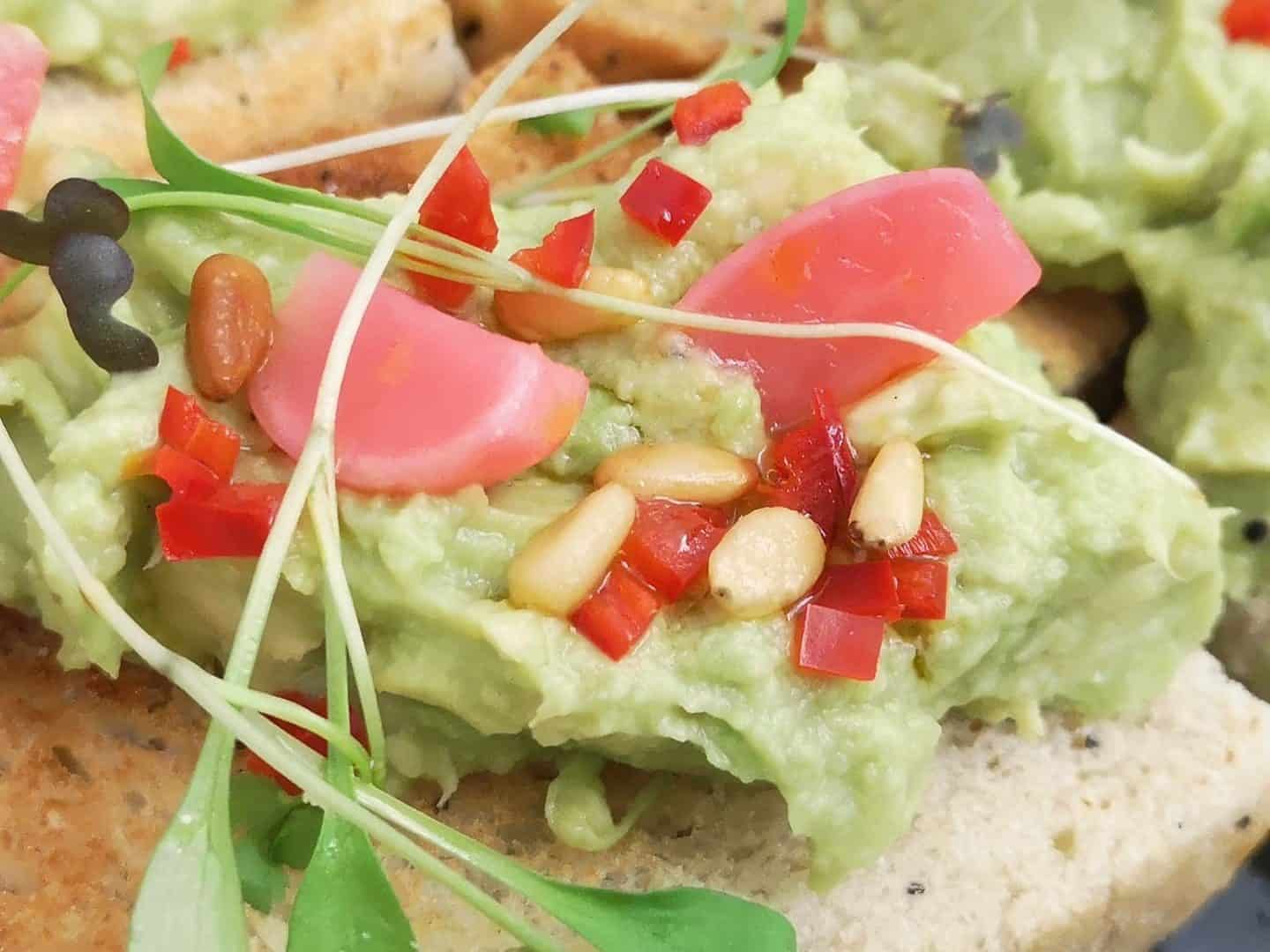 Avocado smash recipe inspiration for Veganuary