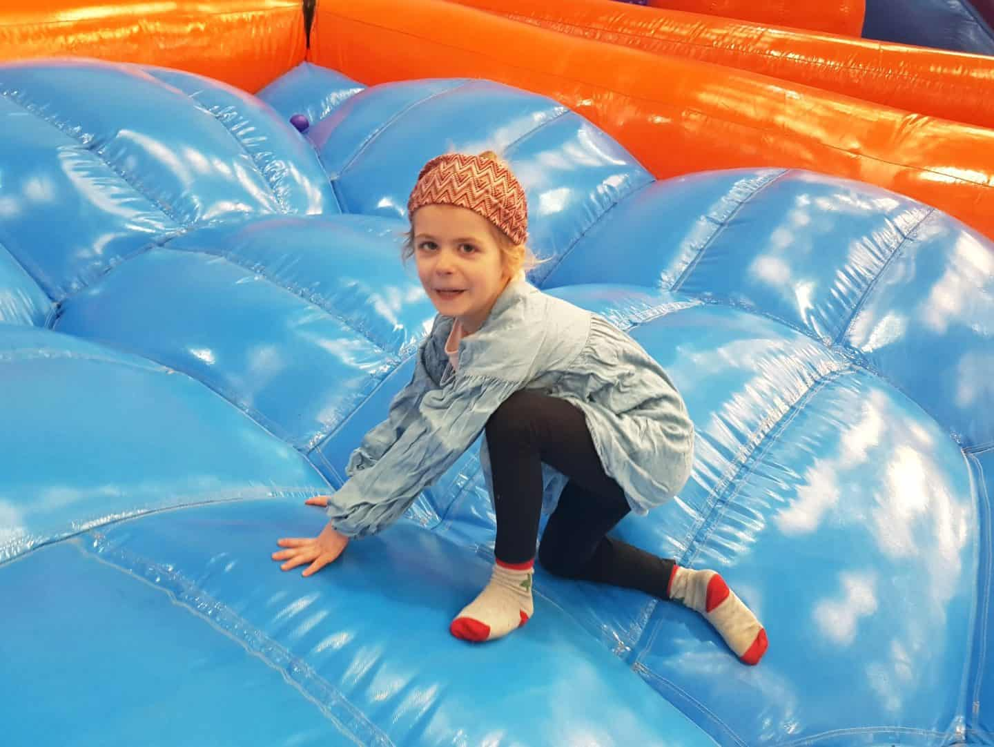 Inflata Nation Birmingham girl on giant bubbles