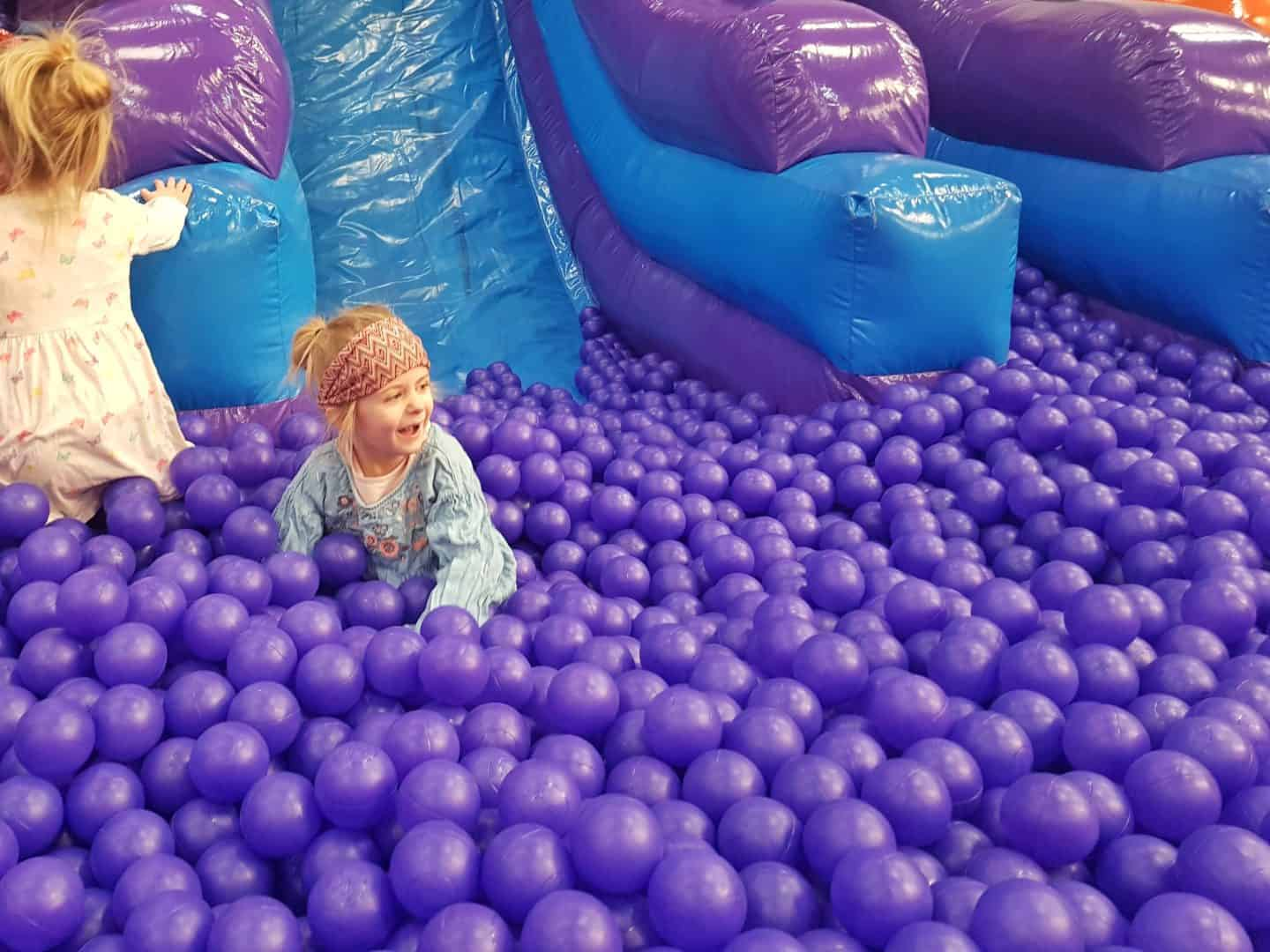 Inflata Nation Birmingham girl in ball pit
