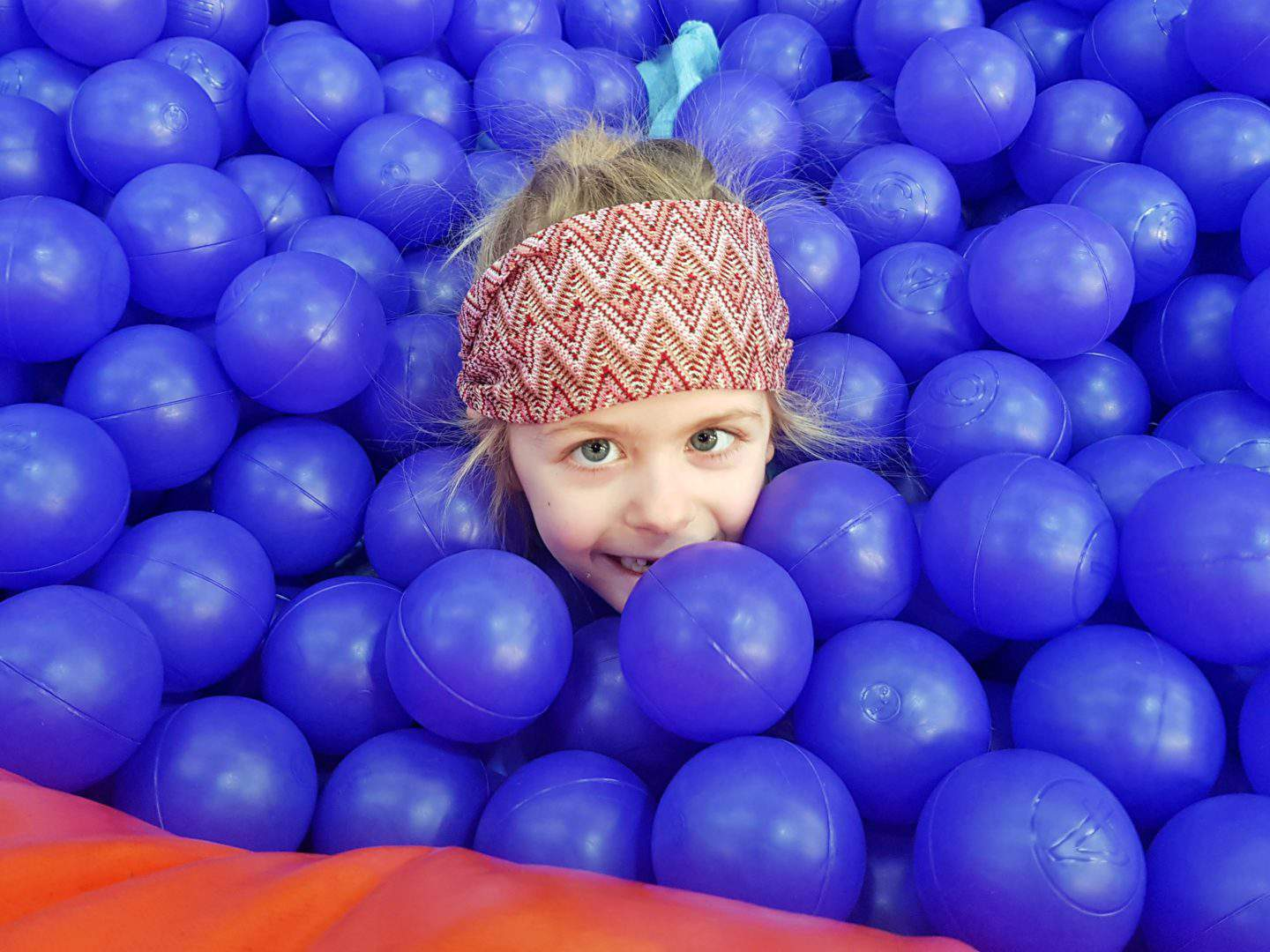 Inflata Nation Birmingham girl's head in ball pit