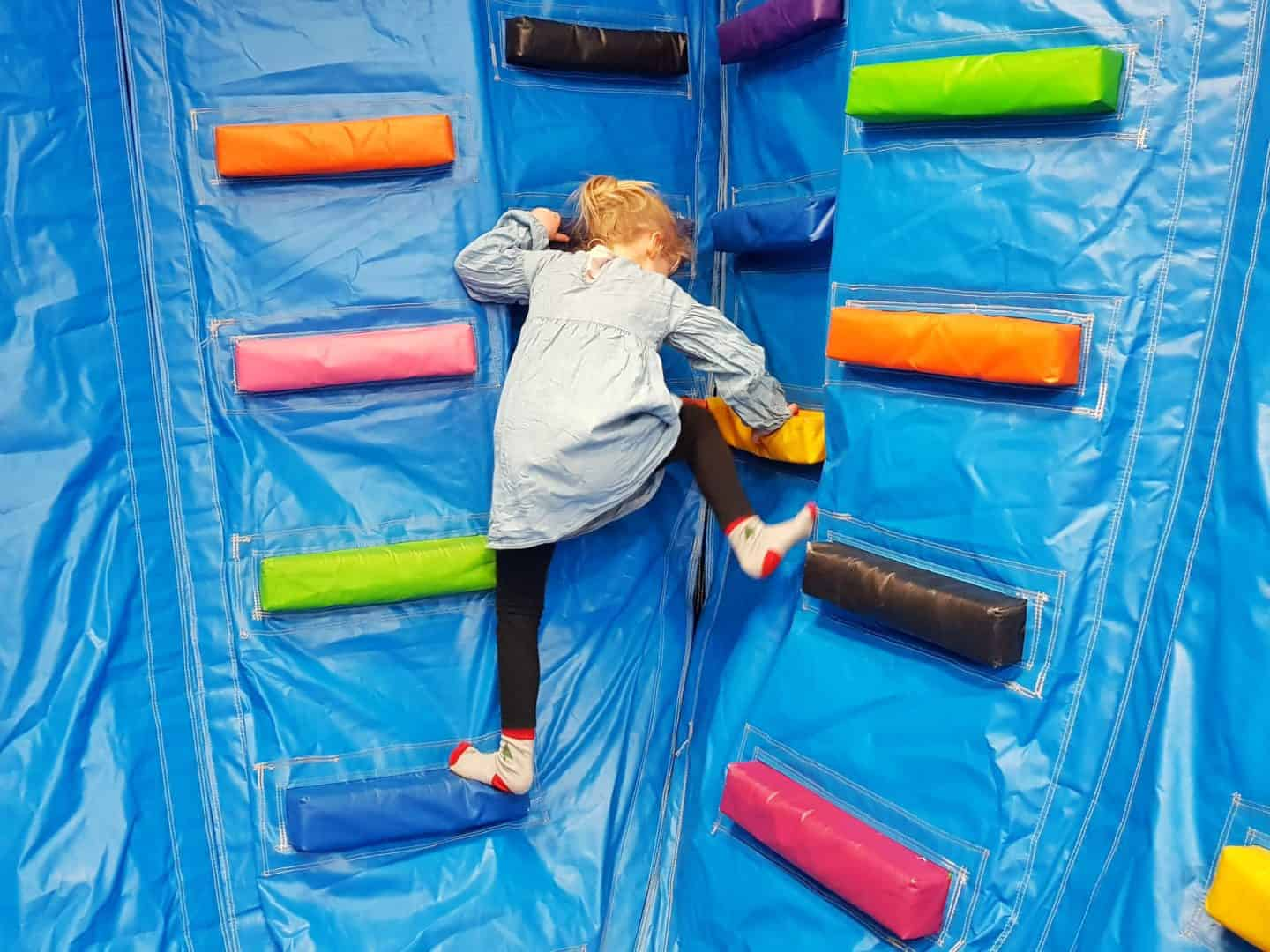 Inflata Nation Birmingham girl on climbing wall