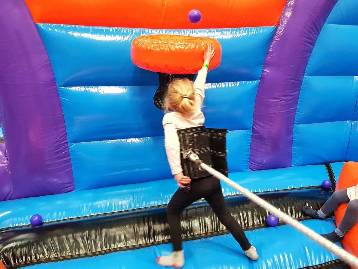 Inflata Nation Birmingham girl on bungee game scoring basket