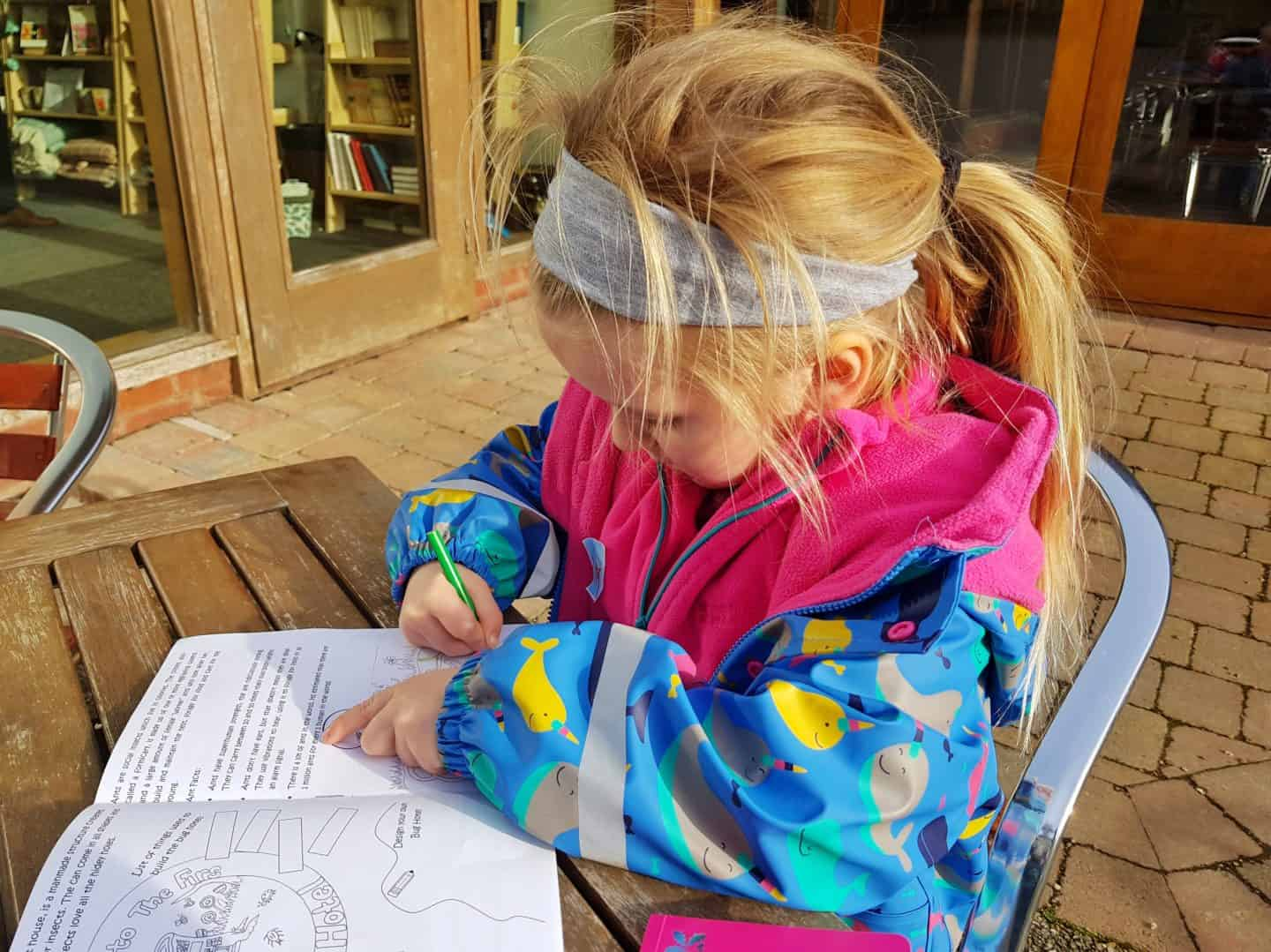 The Firs National Trust in Worcestershire girl colouring