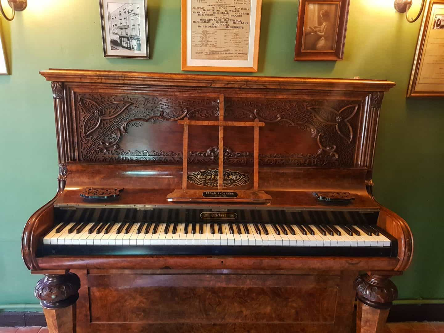 The Firs National Trust in Worcestershire piano