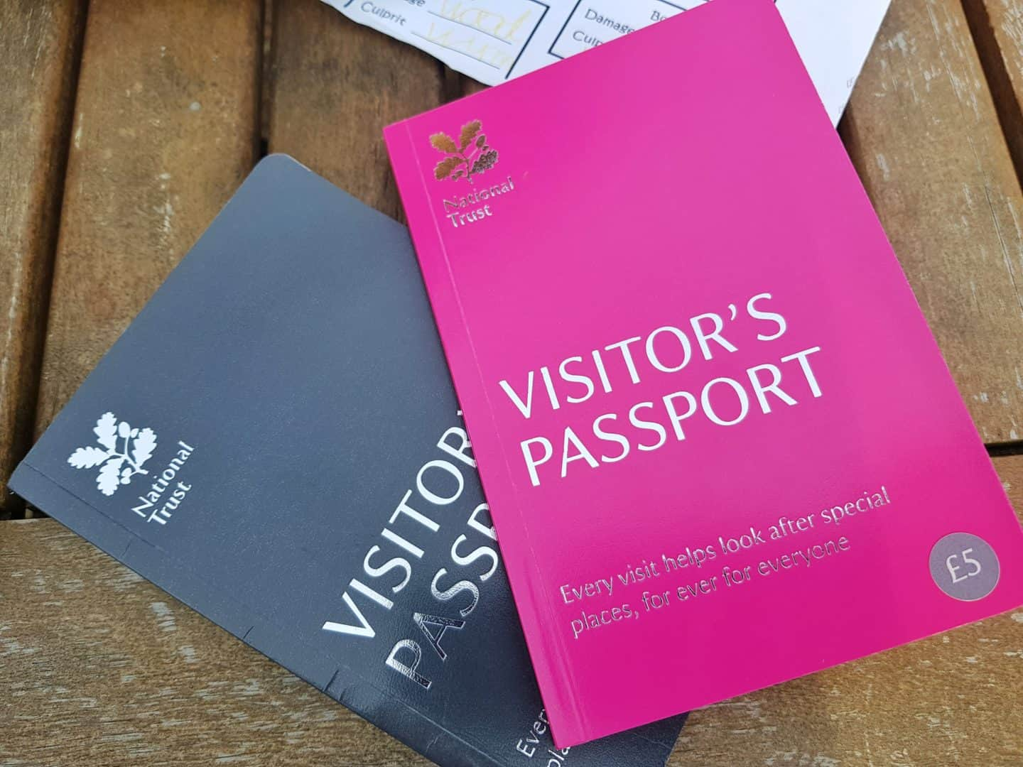 National Trust visitors passports