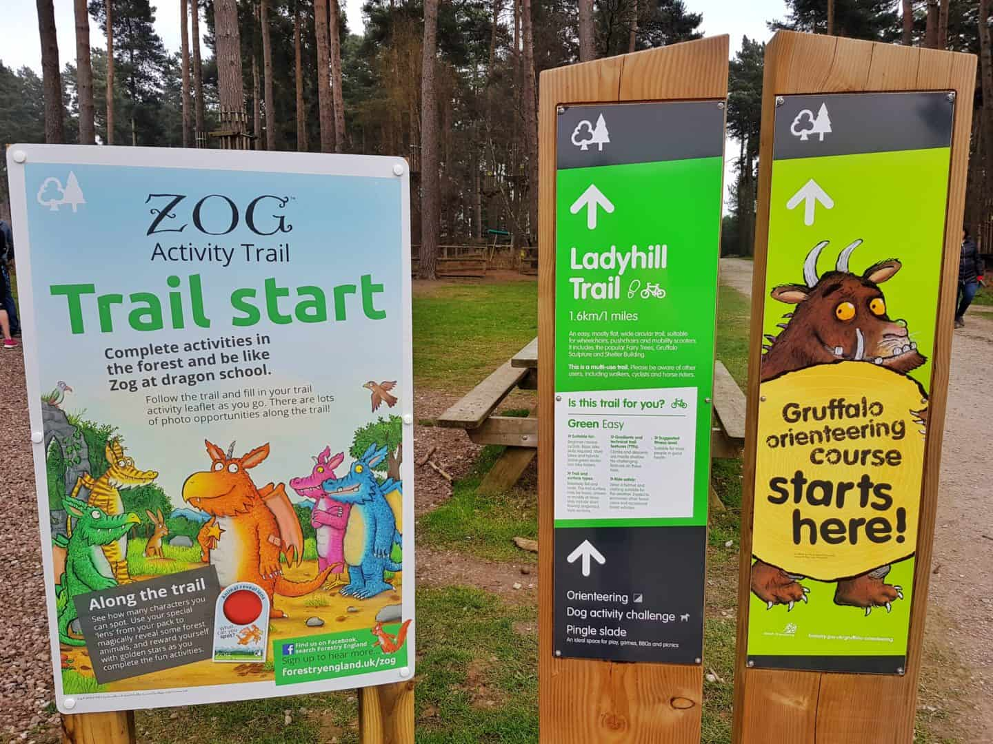Zog activity trail Cannock Chase Forest Staffordshire West Midlands
