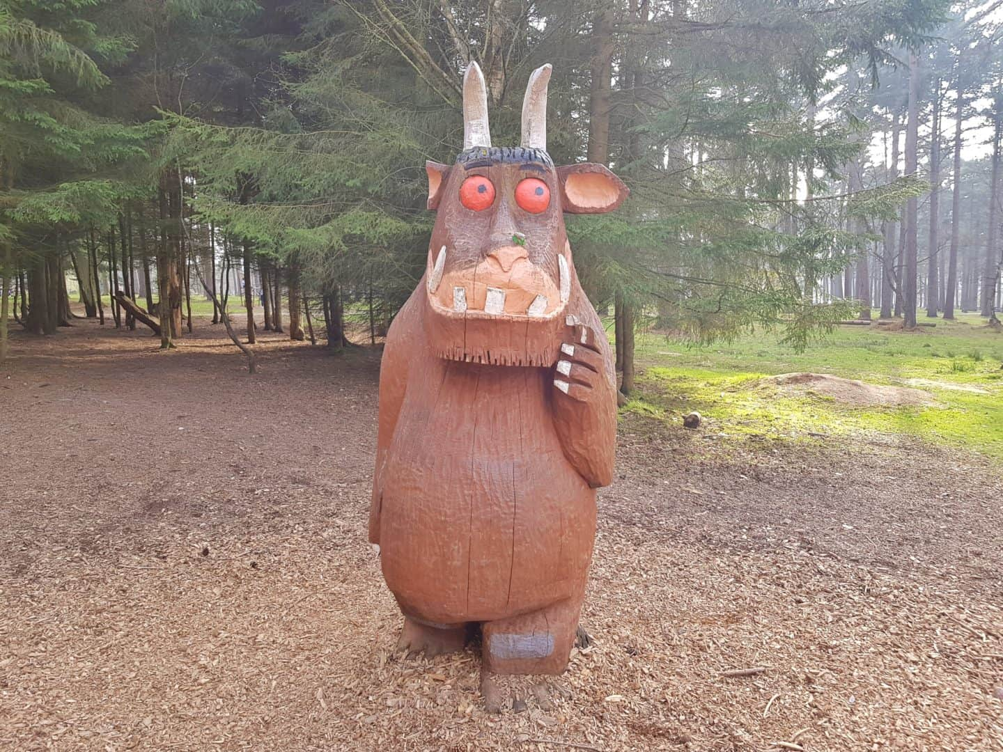 Gruffalo in Cannock Chase Forest Staffordshire West Midlands