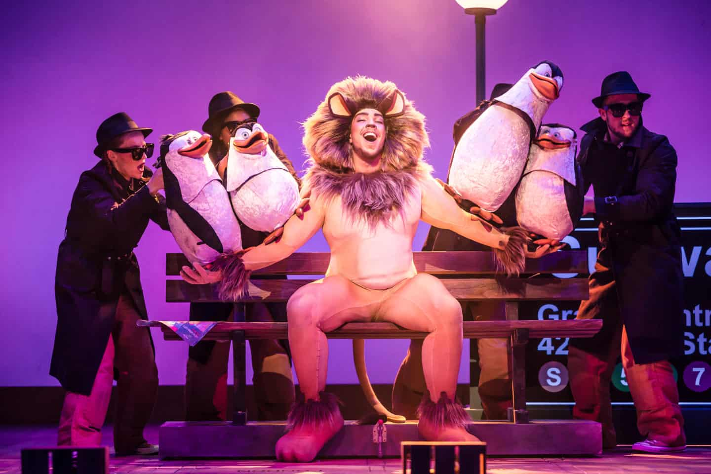 Madagascar at Malvern theatres Alex the lion and penguins