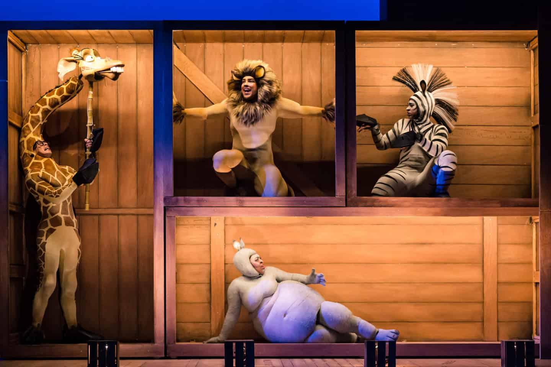 Madagascar at Malvern theatres animals in boxes