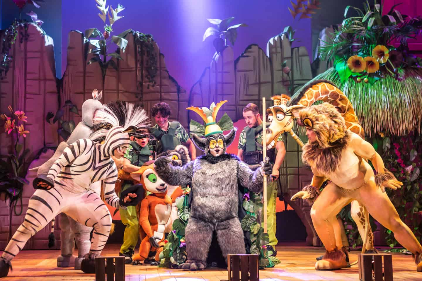 Madagascar at Malvern theatres King Julien and his tribe