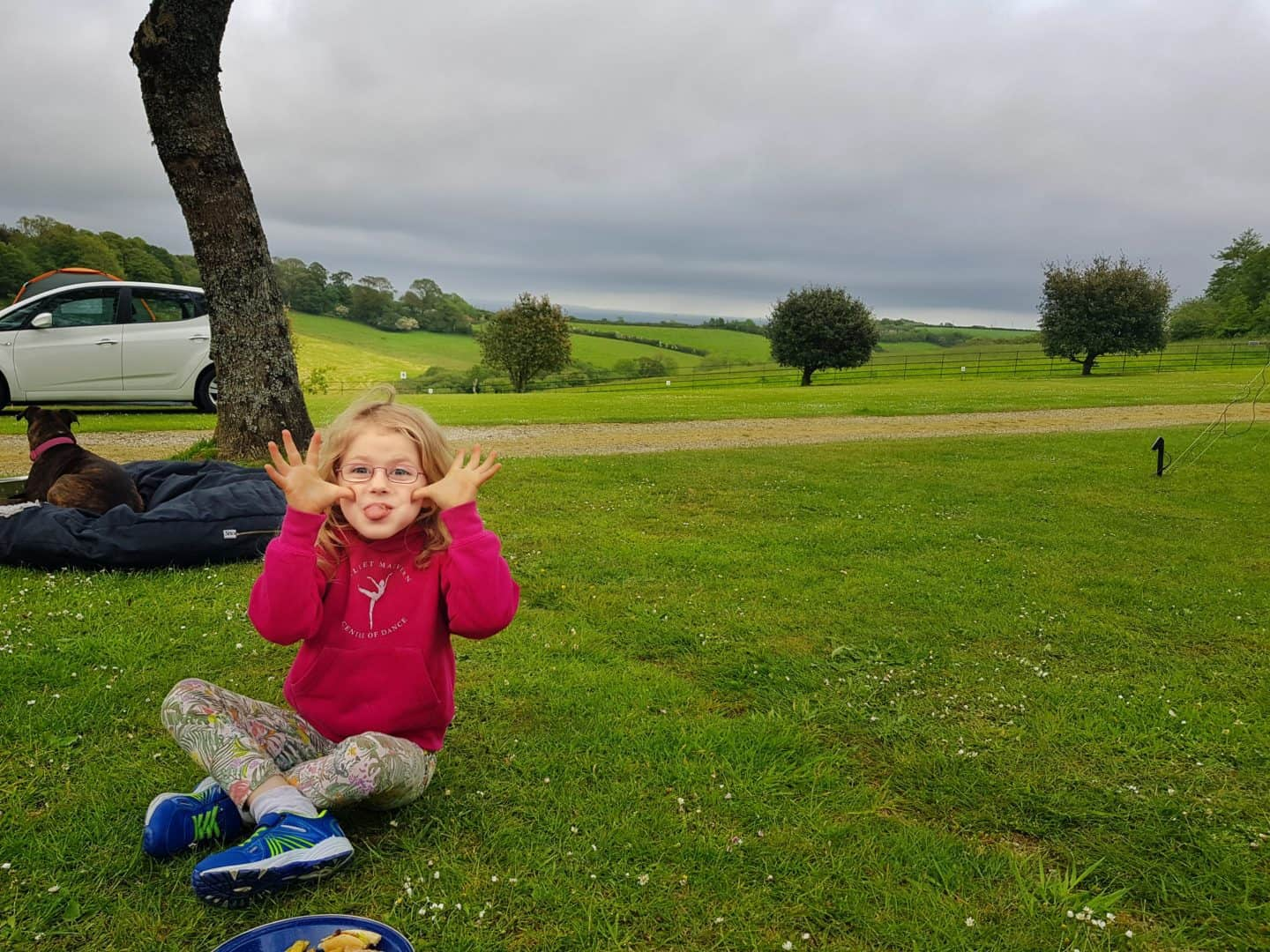 Child on Heligan Campsite