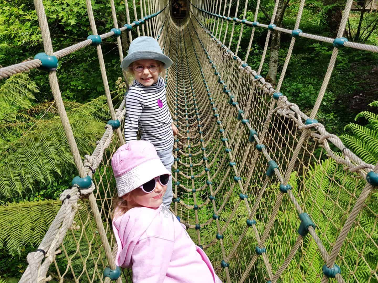 Lost Gardens of Heligan Burma Rope Bridge