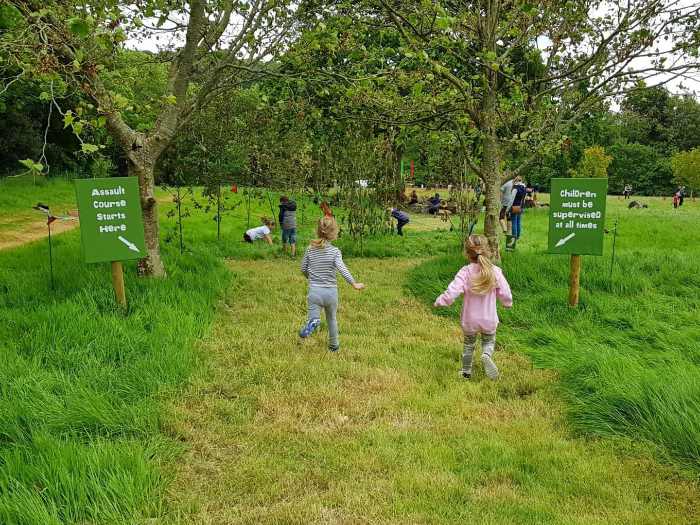 children's obstacle course at Lost Gardens of Heligan