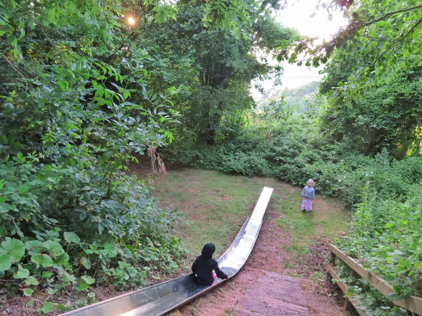 Feather Down glamping slide