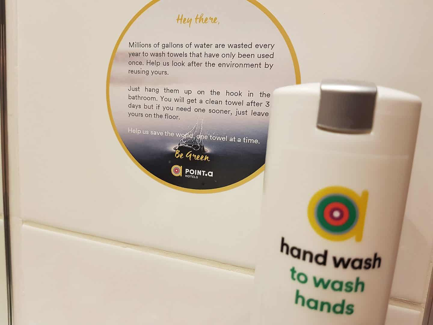 Point A Hotel hand wash