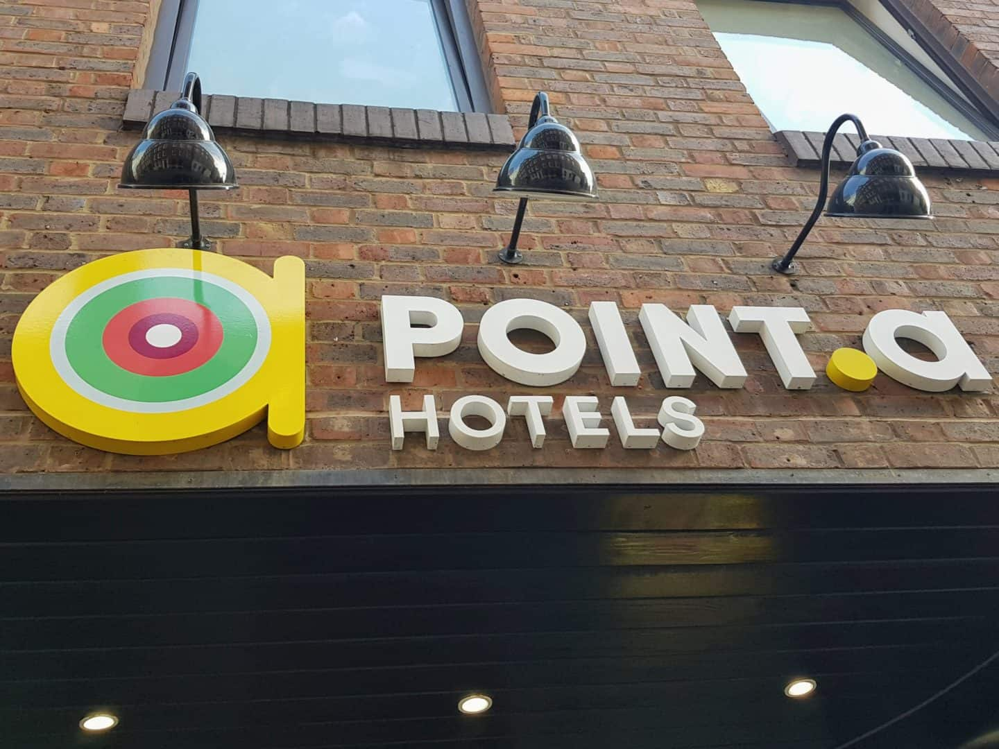 Point A Hotel sign