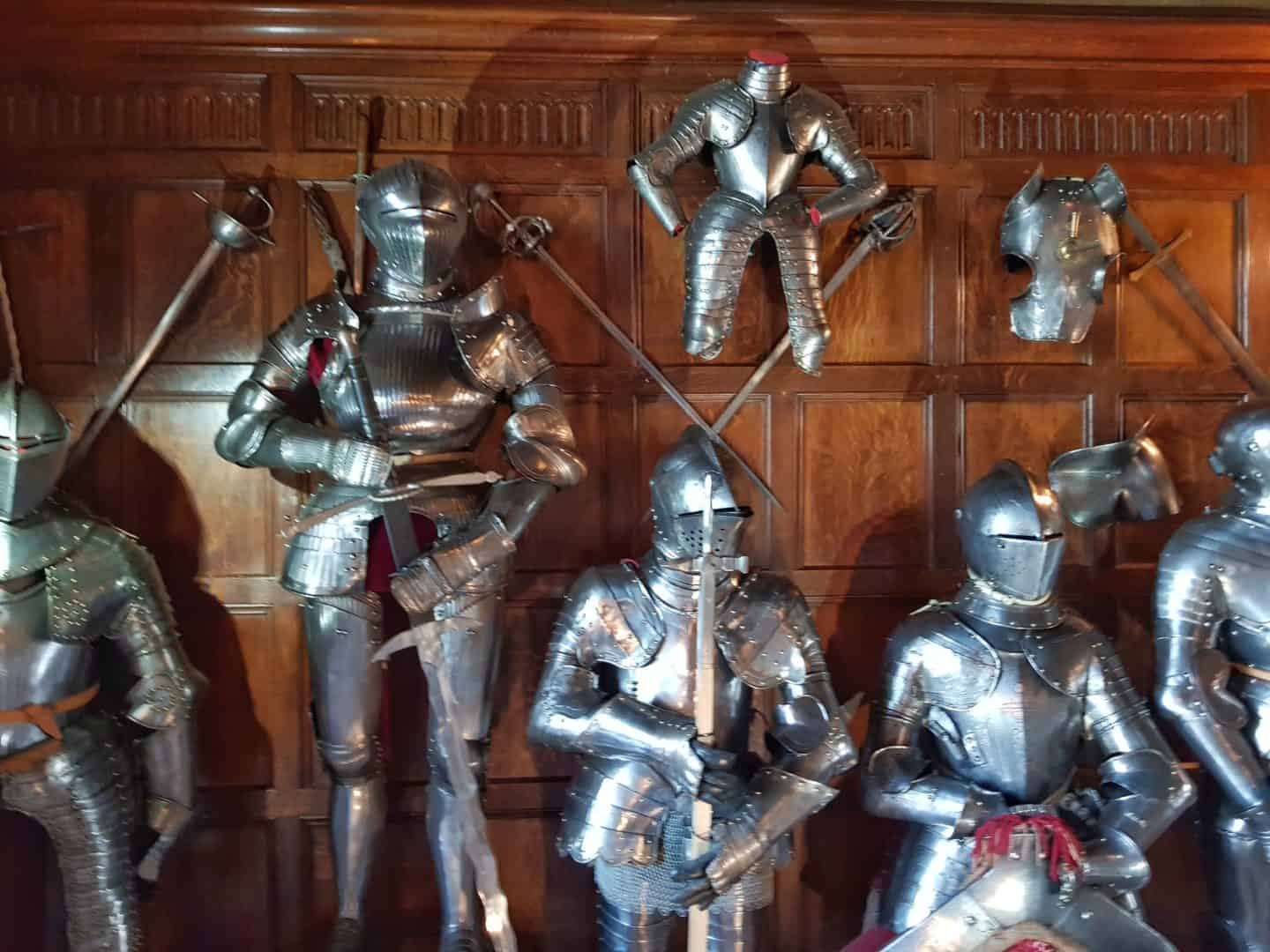 suits of armour at Warwick Castle