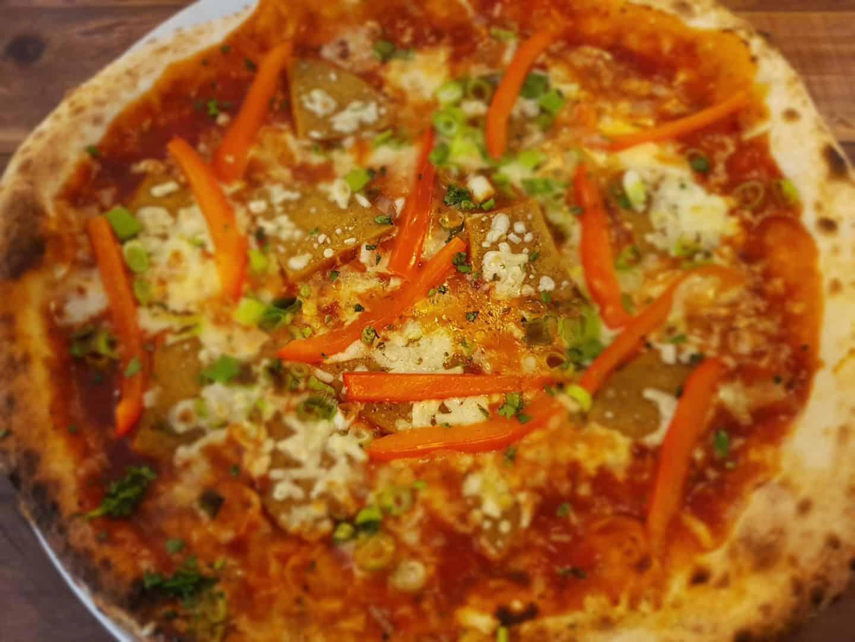 vegan pizza at Three Joes Winchester