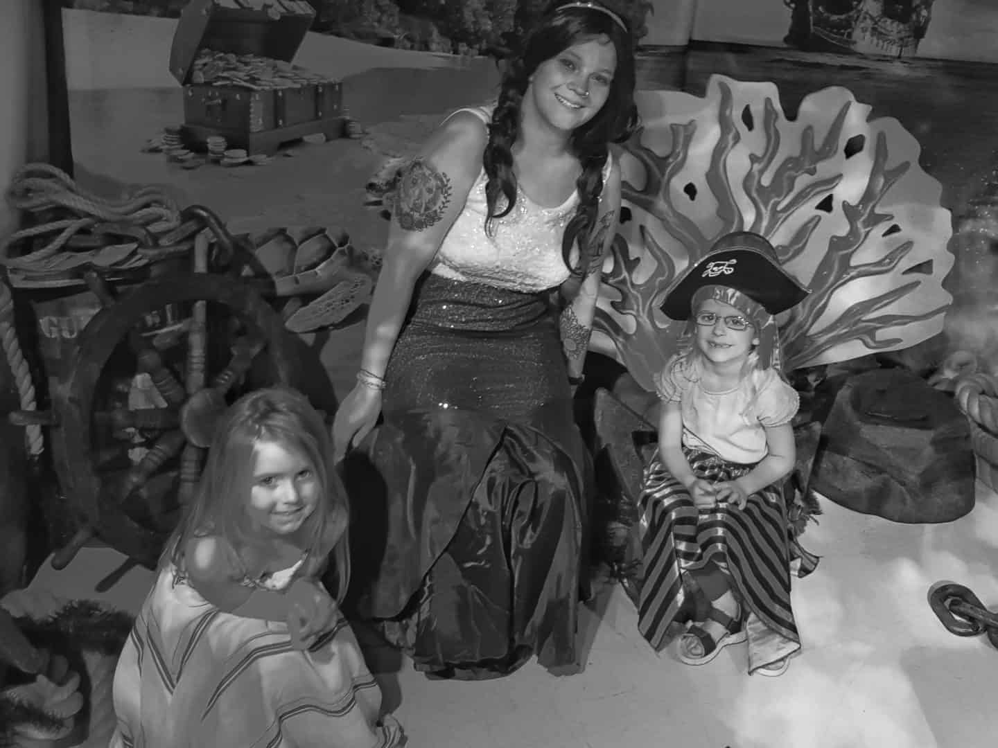 Children with a mermaid at the National Sea Life Centre