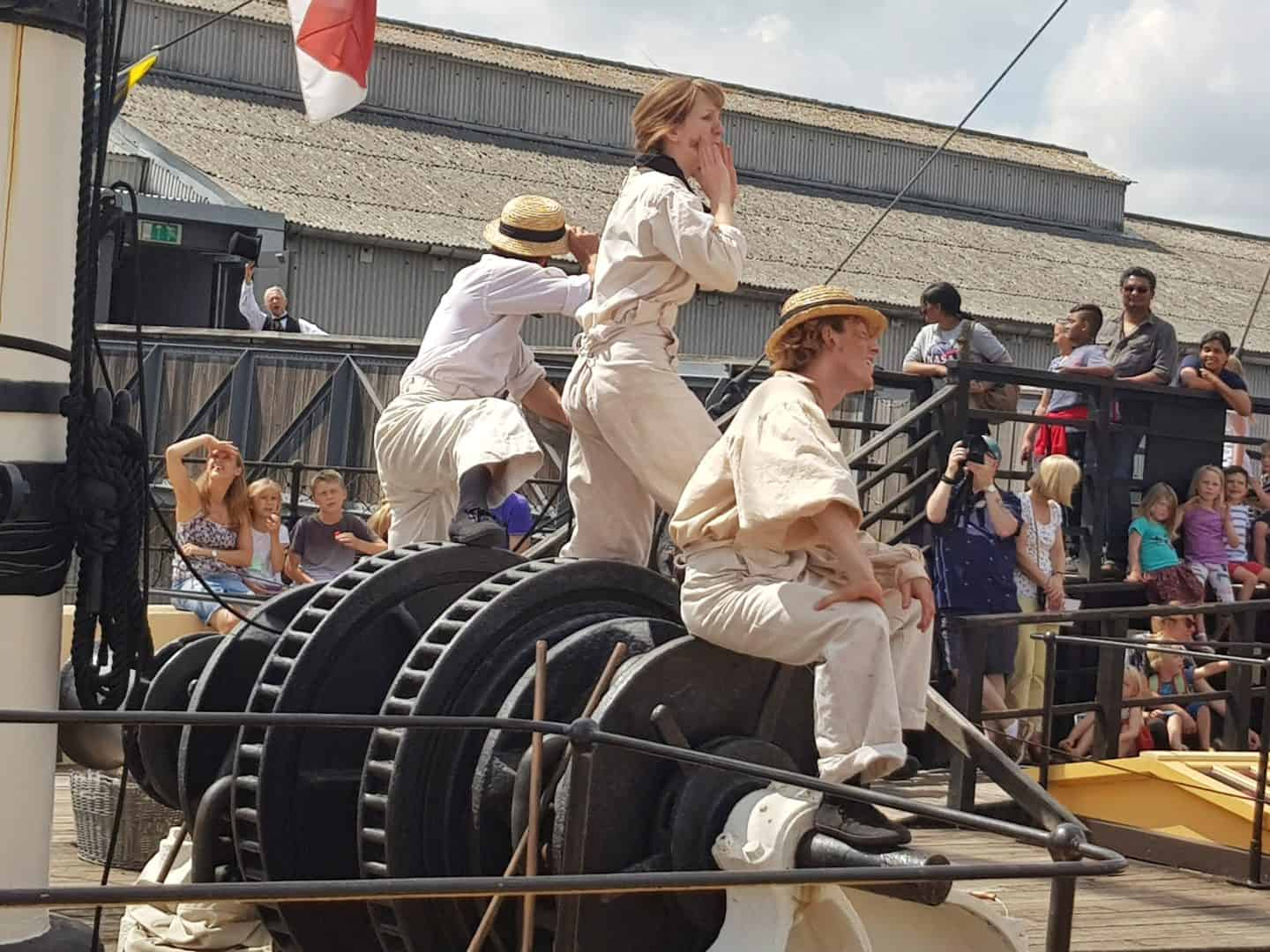 actors in SS Great Britain Summer Spectacular