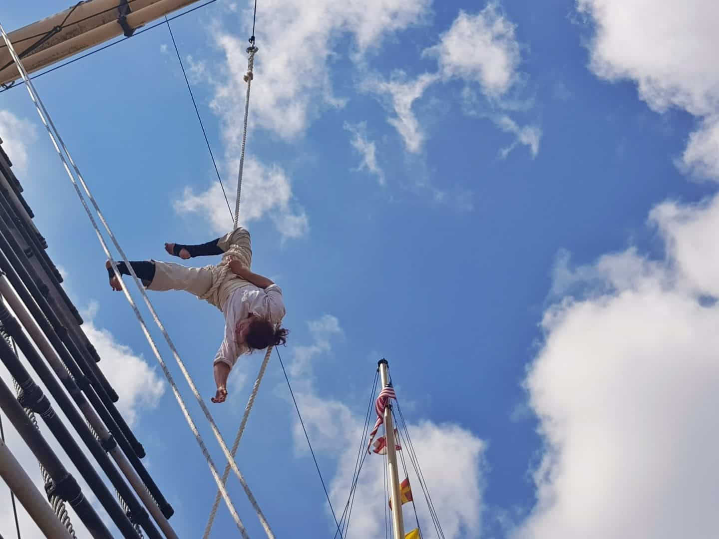 invisible circus acrobat on SS Great Britain