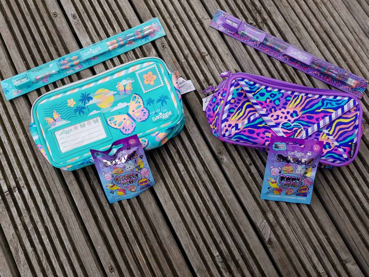 two Smiggle pencil cases