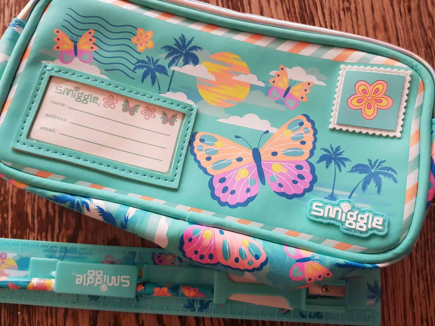 Smiggle pencil case and ruler