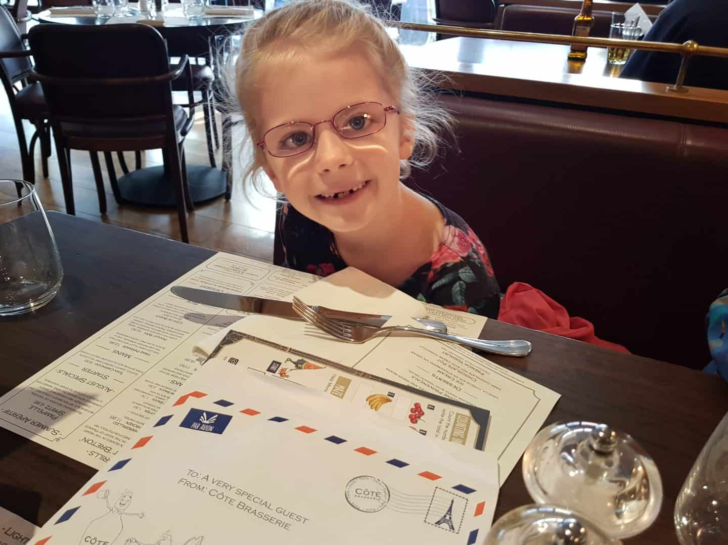 A family meal at Côte Worcester