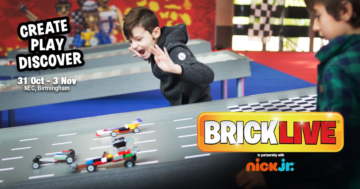 Win a family ticket for BRICKLIVE Birmingham 2019